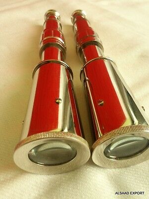 Set Of 2 Pcs Nickle Beautifull Telescope Brass Antique Vintage Nautical Solid