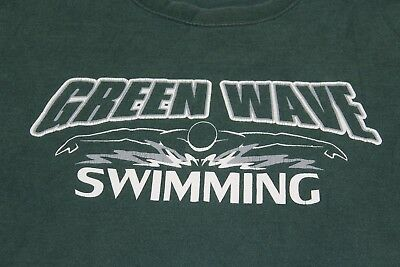 New Milford HS CT Green Wave Swimming large green shirt
