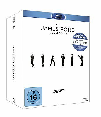 THE JAMES BOND COLLECTION BLURAY Alle 24 Filme inkl. Spectre - 25 Discs NEU OVP