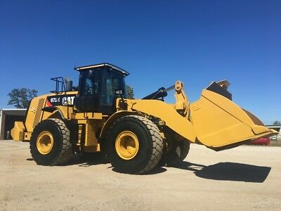 2015 Caterpillar 972K Articulated Wheel Loader Cab AC Diesel On-Board Scales