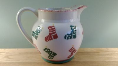 Laura Ashley Christmas Collectable Lg Jug 1995 Hand Decorated. Ex condition