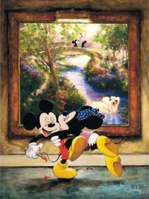 "Mickey Mouse and Minnie Mouse - ""A Kiss for a Kiss"" By Stephen Shortridge"