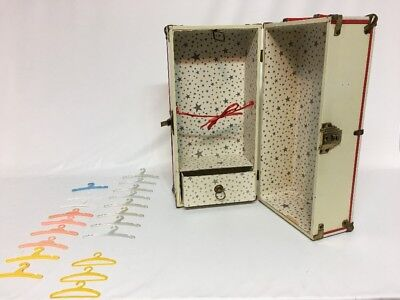 Antique Vintage Metal Doll Steamer Trunk Travel Suitcase