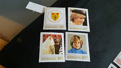 Barbados 1982 Sg 705-708  21St Birthday Of Princess Of Wales  Mnh