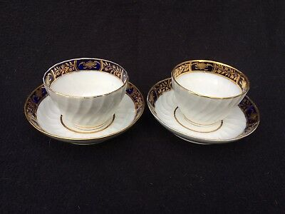 Late 18th / Early 19th Century pair of tea bowls & saucers possible Worcester