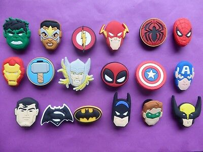 18 New Avengers jibbitz crocs shoe charms cake toppers Age Of Ultron Movie