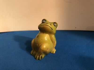 One Vintage Mini Plastic Frog Figurines Made in Hong Kong