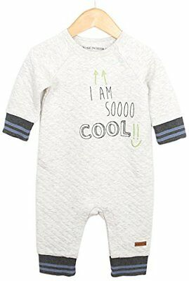 Robeez Baby Boys' Quilted Coverall, So Cool-Grey, 9 Mo