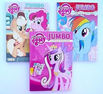 Lot of 3 MY LITTLE PONY Jumbo Coloring and Activity Books, for Children, * NEW