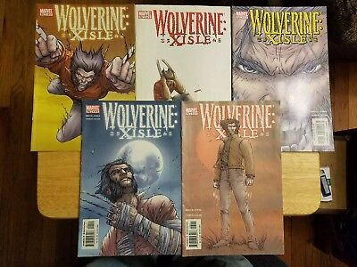 Wolverine Xisle #1 2 3 4 5 Complete Series Set Marvel Comics 2003 Jones Lucas