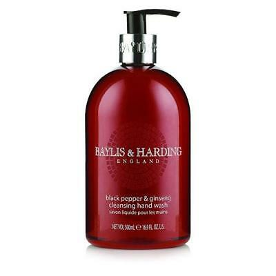 Baylis and Harding Black Pepper and Ginseng Hand Wash 500ml x 4