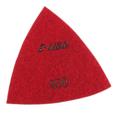 400 Grit Electroplated Triangular Polishing Diamond Oscillating Pads 93mm