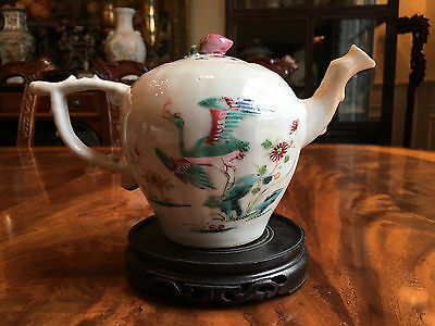 A Rare Chinese Qing Dynasty Qianlong Period Famille Rose Porcelain Teapot.