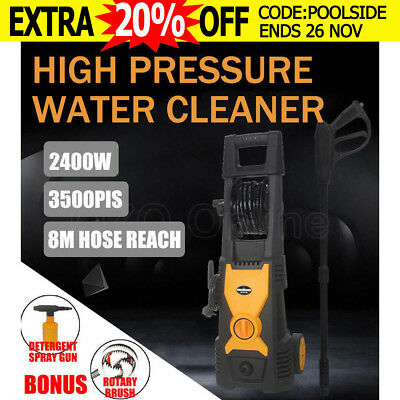 3500 PSI High Pressure Washer Cleaner Water Electric 8M Hose Gurney Pump 10L/min