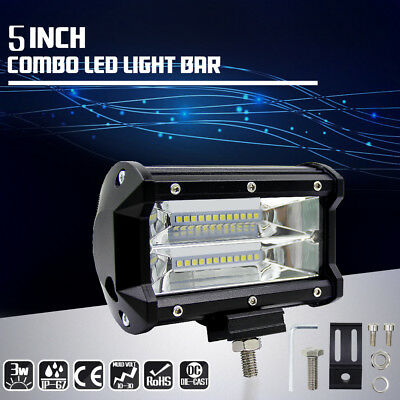 5inch 72W CREE LED Work Light Bar Spot Beam 4WD Off Road Driving Lamps For SUV
