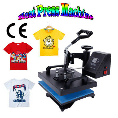 "12""x10"" Swing Away Heat Press Transfer Sublimation Machine for T-shirt 650W 110V"