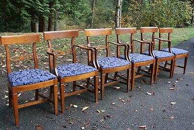 Vintage High End Set of 6 Fruitwood Chairs by Kindel - Dining Chairs