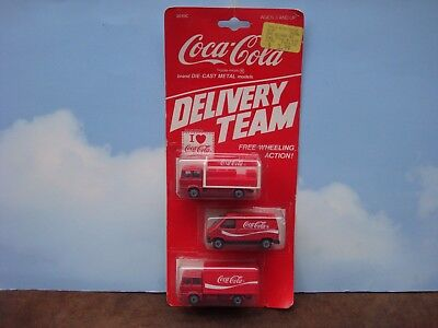 Hartoy Coca-Cola Delivery Team Die Cast Trucks- 1/64 scale by Corgi #3010C