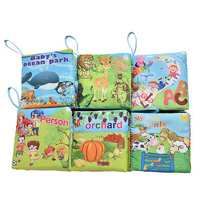 Fabric Books Learning&Education Baby Toys Educational Cloth Cartoon Book QH