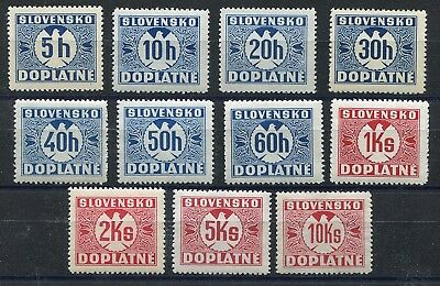 Slovakia Ww2 German Puppet State 1940-1941 J13-J23 Perfect Mnh Postage Due
