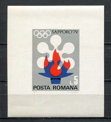 39042) ROMANIA 1971 MNH** Olympic Games Sapporo'72 s/s