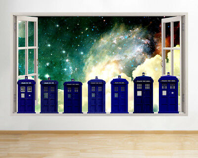 J966 Doctor Who Tardis Evolution Window Wall Decal 3D Art Stickers Vinyl  Room