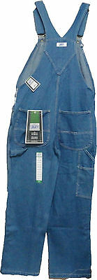 Liberty® Stone Washed Denim Bib Overall Style MOV14006 SW   Waist Size 30 to 62