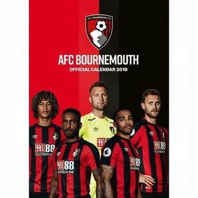Official 2018 Bournemouth A3 Football Wall Calendar Gift Present Birthday