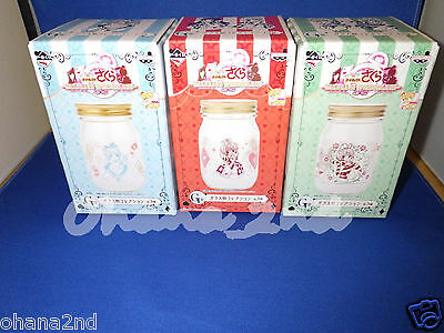 Card Captor Sakura Ichiban kuji prize Glass bottle Set of 3.