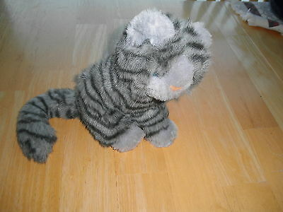 Vintage Grey Stripe TABBY CAT Stuffed Animal Plush Toy Perfect Kitty Lover NICE
