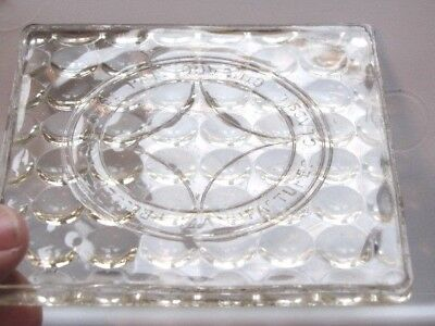 SIGNED Manufacturers Glass Co Pressed Lens Glass Tile 1900 Luxfer Competitor 4X4