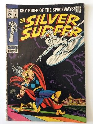 SILVER SURFER #4 // Vs THOR // Low Distribution // VG