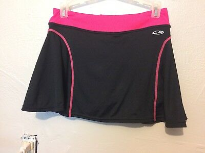 14-16 Girls Athletic Black And Pink Skirt Champion