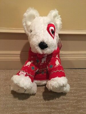 Target Bullseye Plush Christmas Holiday Dog Limited Edition 2012 NWT