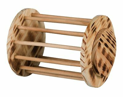 Natural Wooden Hay Rack Roll Hay Rack Manager Hamsters Guinea Pigs Degus Rabbits