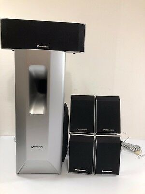 Panasonic 5.1 Surround Sound Home Theater Silver Speaker & Sub SB-HF650 SB-HW750