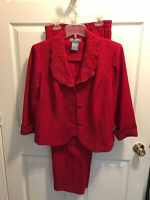 Koret Beautiful 2 piece outfit-Red-Size 14WP-Great for weddings, parties,dressy