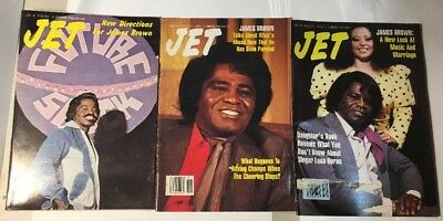 LOT of (3) JAMES BROWN JET MAGAZINES 1991 1976 1986 his parole  EXC CONDITION