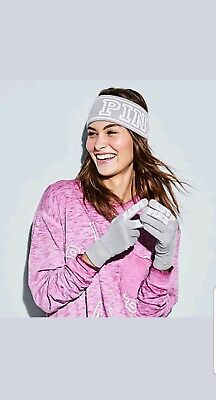 Nwt victoria's secret pink Headband and Gloves