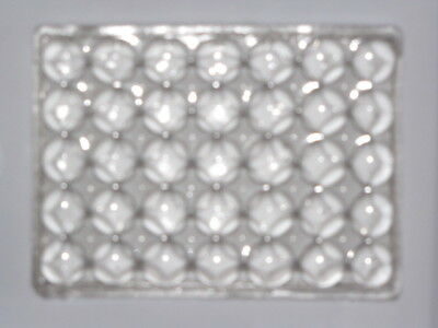 Manufacturers Glass Co Pressed Lens Glass Tile 1900 ish Luxfer Competitor 3X4