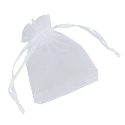 100 x White Organza Wedding Party Gift Bags K6N2