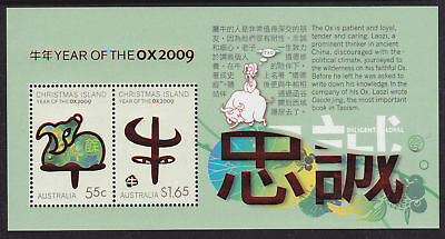 Christmas Island 2009 Year of the Ox MS MNH