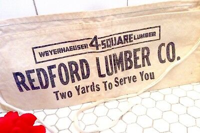 Vintage Tool APRON Hardware Lumber Store Advertising DETROIT area 50s ORG Cloth