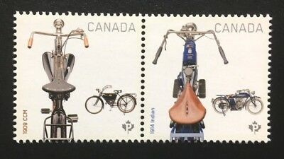 Canada #2646a-2646b MNH, Motorcycles Pair of Stamps 2013
