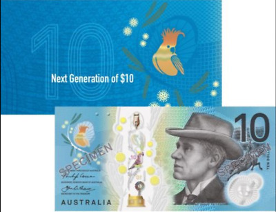 NEW $10 2017 OFFICIAL RBA FOLDER 1 UNC Polymer Banknote - in stock