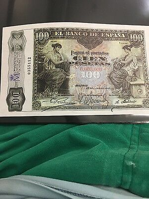SPAIN 100 PESETAS 1906 may be official copy  Excellent CONDITION. 4RW 29JUL