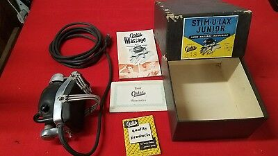 Vintage OSTER STIM-U-LAX JUNIOR HOME MASSAGE INSTRUMENT MODEL #4 WORKS