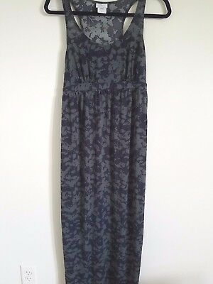 Oh Baby Maternity Women's Size Small Racerback Maxi Dress Long Gray Stretch