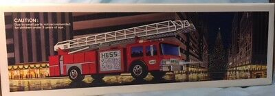 Vintage 1986 Hess Fire Truck Bank New in Box