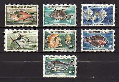 10466) MALI 1960 MNH** Fishes 7v